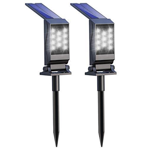 Appolab Solar Spotlights, 11 LED Waterproof Solar Light Outdoor, 2-in-1 Security Lighting, 180