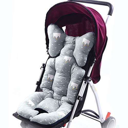 Souarts Universal kinderwagen zitkussen zitkussen dikke zachte katoen kinderwagen mat kussen deken zitpad voor kinderwagen babywagen 35 x 80 cm