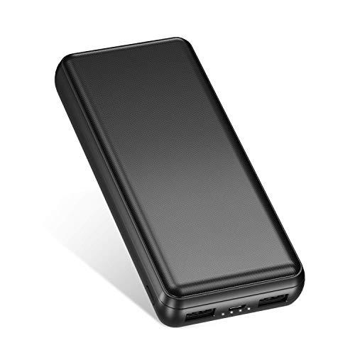 IEsafy powerbank 26800mAh, Caricatore Portatile con 2 Porte di Uscita USB, Adatto per Xiaomi, Samsung, Huawei e Altri Smartphone-Smerigliato
