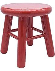 Acan REGGO - Taburete Bebé de Madera Natural Pintado Color Infantil 20 x 20 x 23 cm, Taburete Bebé clásica Gracioso niños (Rojo)