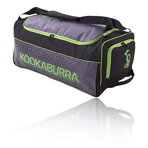 KOOKABURRA Unisex, Jugendliche 2020 5.0 Cricket Wheelie Bag, schwarz/Lime, 70 x 31 x 28 cm (L x W x H)