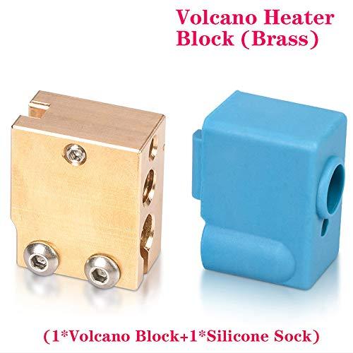 PoPprint - Blocco riscaldante vulcanico V6 di alta qualità con calze in silicone per estrusore V6 FIT-PT100 per parti stampante 3D