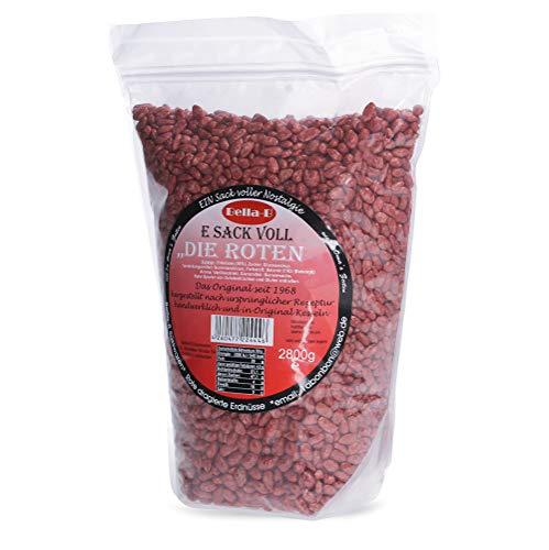 """Bella-B E SACK VOLL """"Die Roten"""" 2800g geröstete, dragierte Erdnüsse wie zu Oma's Zeiten im wiederverschließbaren Standboden-Beutel - Das ORIGINAL aus dem Nussautomat"""