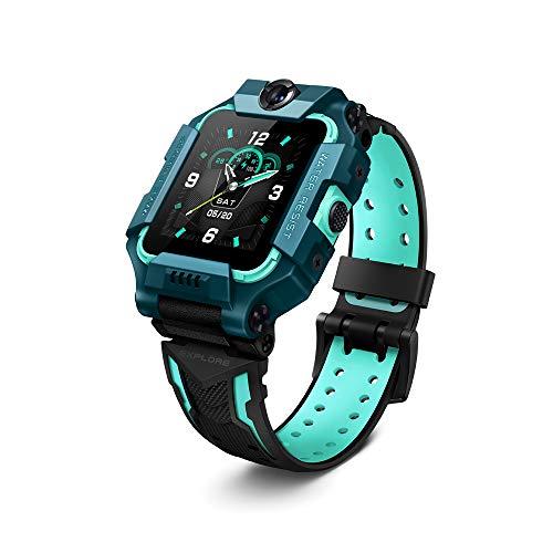 IMOO Reloj Inteligente para niños para niños y niñas (4G): Video bidireccional, Llamada telefónica, cámara Dual Frontal y Trasera, ubicación GPS, Incluye 2 años de garantía (Verde)