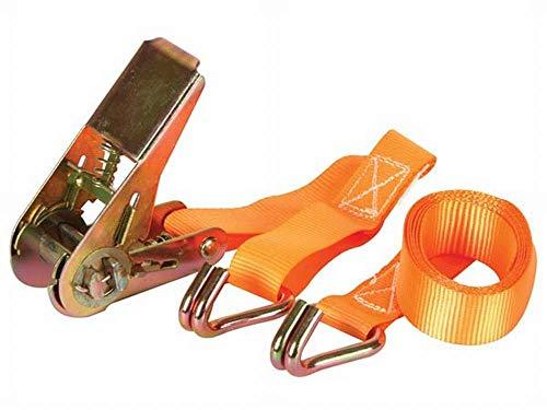 Preisvergleich Produktbild PEREL - ARAT2 Spanngurt mit Ratsche & Haken,  Maximal Last: 500 kg,  1.5 m x 25 mm Abmessungen 140050