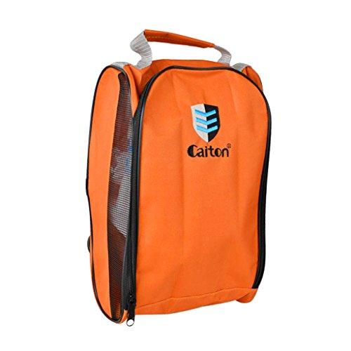 Sharplace Sac De Chaussures De Golf Sacoche Accessoire Sport Rangement Portable Facile à Transporter - Orange, 32,5 x 21 x 13 cm