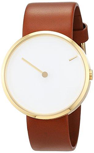 Jacob Jensen Unisex Analog Quarz Uhr mit Leder Armband 32254