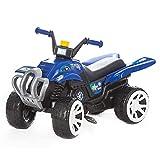 Mon Mobilier Design Neo - Quad de pedales con ruedas grandes, color azul