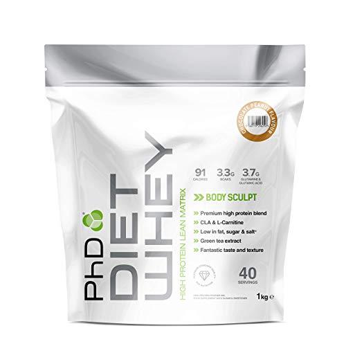 PhD Nutrition Diet Whey Protein Powder, 1 kg, Chocolate Peanut