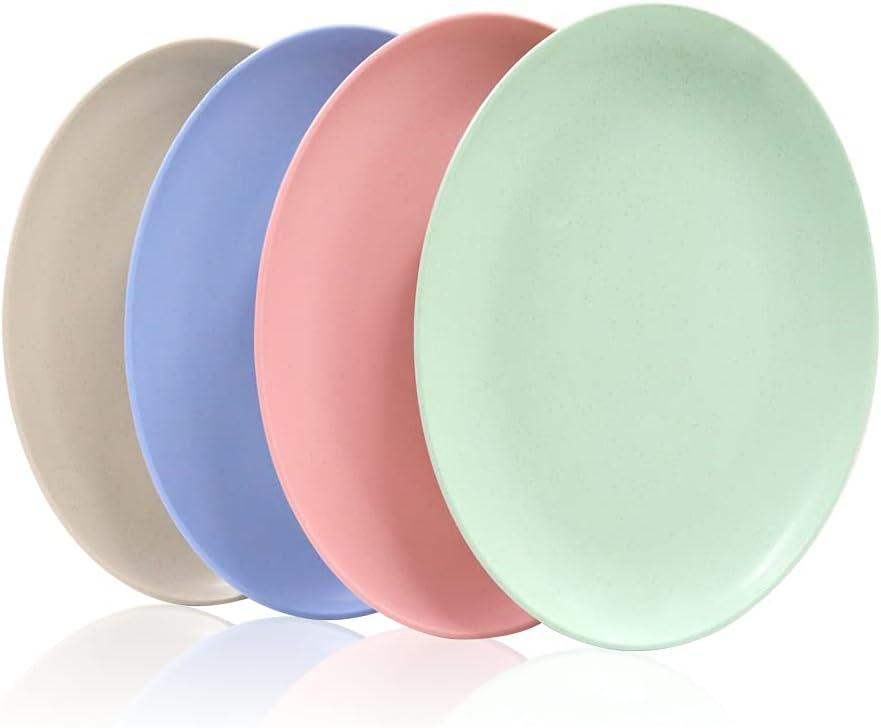 Set of 4 Unbreakable Oval Dinner Reusable Salad 10