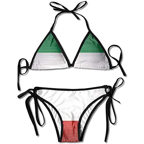 Bikini,Italian Flag Bikini Women's Summer Swimwear Triangle Top Bikinis Swimsuit Sexy 2-Piece Set