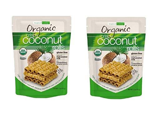Organic Crispy Coconut Rolls Tropical Fields 2-Pack 11 oz Bag