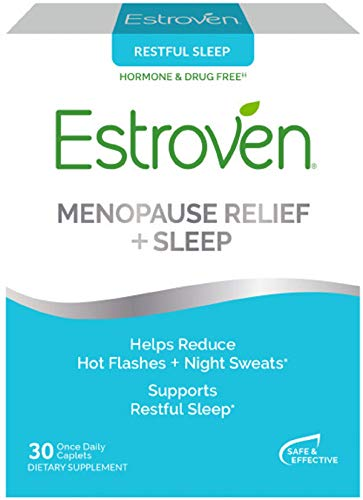 Estroven SLEEP COOL + CALM | Menopause Relief Dietary Supplement | Estrogen Free** | Helps Reduce Hot Flashes & Night Sweats* | 30 Caplets