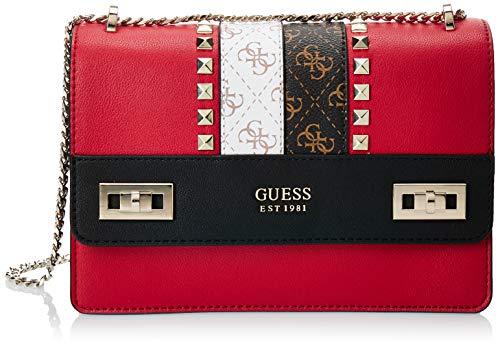 Guess Katey Convertible Xbody Flap, bolsos para Mujer, Red Multi, Talla única