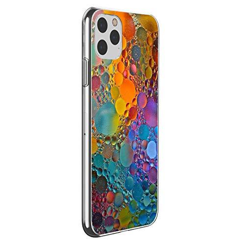 Suhctup Cover Compatibile con in Silicone per iPhone 11 PRO Max 6.5'',Custodia Stampa Colorful Balloons Disegni in TPU Morbido,Sottile e Cristallo Trasparente Custodie Protettivo Gel Cover -Colore 7