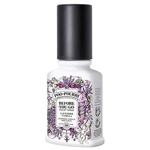 Poo-Pourri Before-You-Go Toilet Spray 2 oz Bottle, Lavender Vanilla Scent (2 Pack)