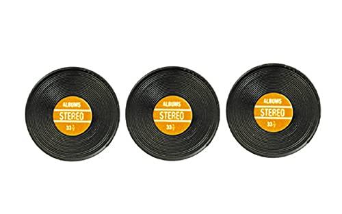 Maison De Poupée Salle De Musique Miniature Accessoire Lot de 3 1:12 échelle Records