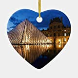 None-Brands - Figura decorativa de Navidad, diseño de pirámide de regalo en el museo del Louvre, París, Francia