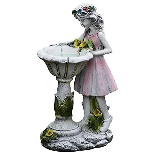 Figura decorativa de jardín de hadas de flores solar Power Yard para cultura al aire libre, decoración de jardín impermeable