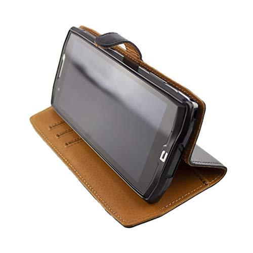 Casco para Crosscall Core-X4, Bookstyle-Case Funda Protectora a Prueba de Golpes para Smartphone (Carcasa de Color Negro)