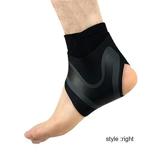 JklausTap - Tobillera elástica Ajustable para Deportes y Correr, Derecha, Small