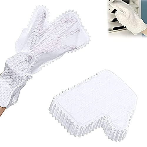 30 Pcs Fish Scale Cleaning Duster Gloves, Disposable Non-Woven Cleaning Gloves, Non Latex, Powder Free, for Grab and Lock in Dust Pet Hair and Allergens