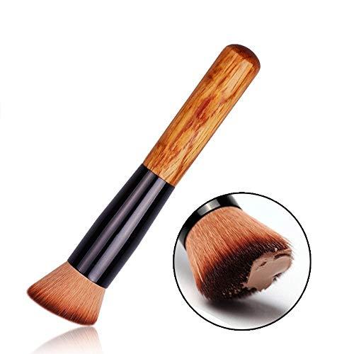 Brosses La base de Kabuki synthétique de brosse durable de poignée de bambou mélange le kit de brosse de poudre de crayon correcteur d'ombre à paupières Maquillage pour les femmes