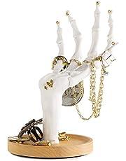 Suck UK Ręcznie wisząca biżuteria w kształcie szkieletu schludna, organizer i stojak ekspozycyjny – do prezentacji pierścionków, bransoletek, naszyjników, kolczyków i innych małych akcesoriów