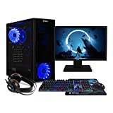 NITROPC - PC Gaming Pack Bronze Rebajas | PC Gamer (CPU Intel G6400 2/4 x 4,00Ghz (Turbo) | Gráfica GT 1030 2GB) + Monitor 21,5' + Teclado + ratón + Cascos | RAM 16GB | M.2 256GB | HDD 1TB