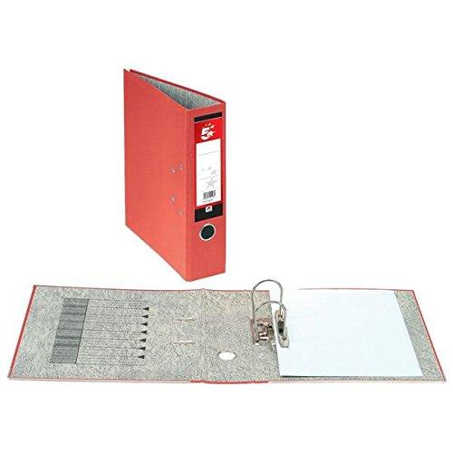 e888c33e9c4f 5 Star Lever Arch File 70mm Spine A4 Red  Pack of 10