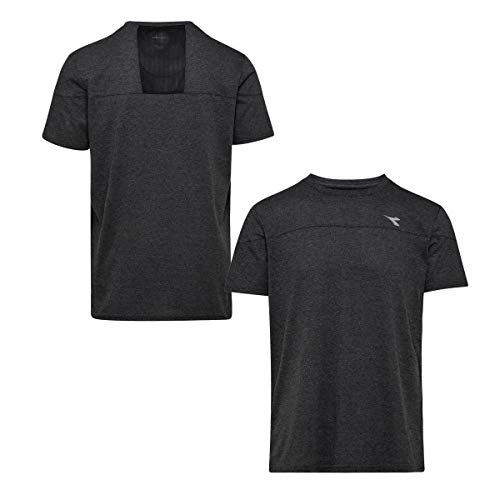 Diadora Sport 102173676 SS Camiseta, Hombre, Black Space Dyed, 2 X-Grande
