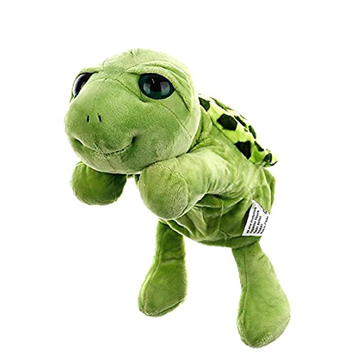 Guantes de dibujos animados tortuga tortuga tortuga marioneta de mano de la felpa de la marioneta de la felpa juguetes interactivos títere de la historia que dice a apoyos interactivo marioneta de