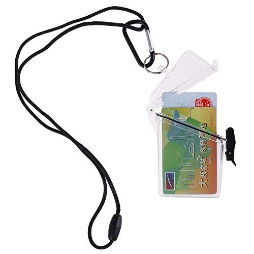 OBANGONG 3 Pcs Sport Waterproof ID Card Badge Holder Case Waterproof Sports Case Vertical Badge Holders with Lanyard and Keychain Photo #4
