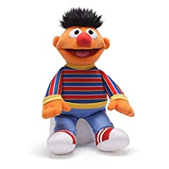 Ernie plush with accurate costume details sure to please Sesame Street fans Soft, huggable material built to famous GUND quality standards Surface-washable Ages 1+ 13.5 inch height (34 cm)