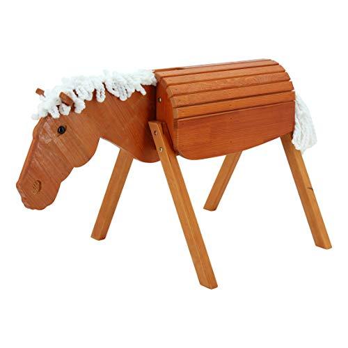 Sweety Toys 12923 Outdoor Gartenpferd Holzpferd Maya Größe M 90 cm