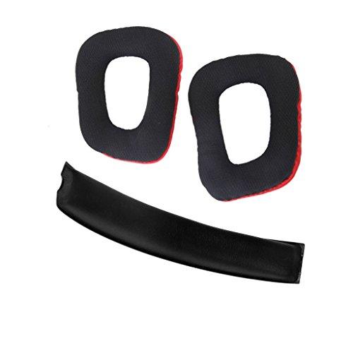 SDENSHI Strapazierfähiges Ohrpolster Kopfpolster Für Logitech G35 G930 G430 F450 Kopfhörer