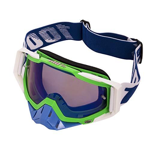 Gafas de Motocross Antivaho Gafas de Moto para Motocicleta Gafas de Esquí Anti UV Anti Viento Anti Polvo con Correa Ajustable Gafas Deportivas de Protección para Dirt Bike Racing MTB Snowboard, F