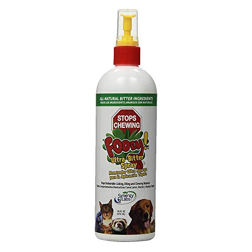 Ultra-Bitter Training Aid Spray – Chewing, Biting, Licking Deterrent for Dogs, Cats, Horses, Rabbits, Ferrets, Birds - Safe for Pet's Skin – Can Also Protect Garden from Deer and Pests (16 oz.)