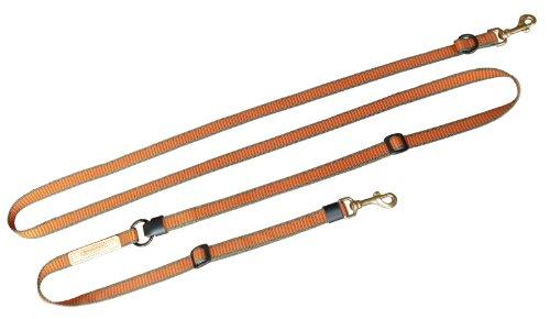 Niggeloh Hundeumhängeleine Deluxe, orange/grün, 20mm, 111100012