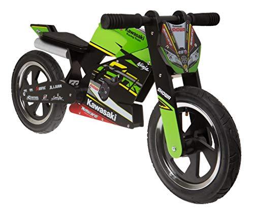 KAWASAKI Ninja KIDDIMOTO SBK 2019 Bicicletta per bambini in legno, pneumatici ad aria (0044)