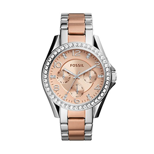 Fossil Women's Riley Multifunction Stainless Steel Watch, Color:...