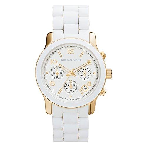Michael Kors Reloj analogico para Mujer de Cuarzo con Correa en Silicona MK5145