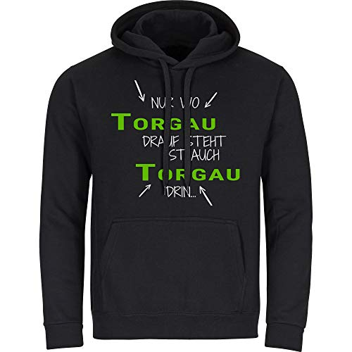 Multifanshop sweatshirt met capuchon alleen waar het zuidelijke stopcontact staat is ook zuidelijk aanhoud, zwart, heren, maat S tot 2XL
