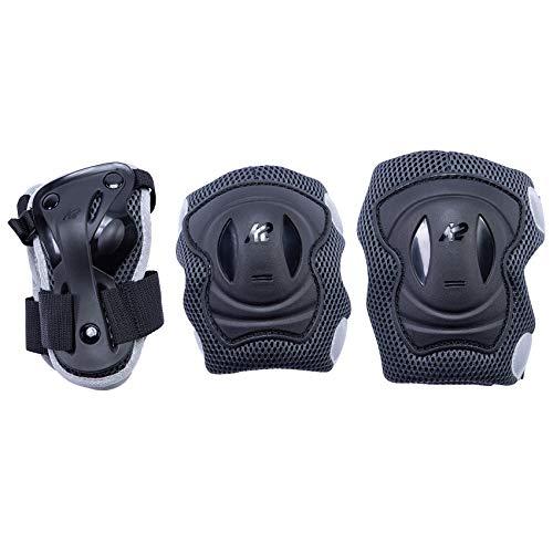 K2 Prime Guard W - Muñequeras para Hombre, Talla XL, Color Negro y Gris (Rodilla: A: 47 – 51 cm B: 42 – 46 cm / Elbow: A: 31 – 34 cm B: 30 – 33 cm/muñeca: A: 25 – 27 cm B: 22 – 24 cm)