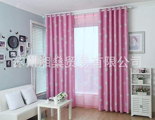Qsy curtain Bedruckte Verdunklungsvorhänge im rustikalen Stil mit Sonnenschutzlamellen, rosafarbenem Tuch, 100x130