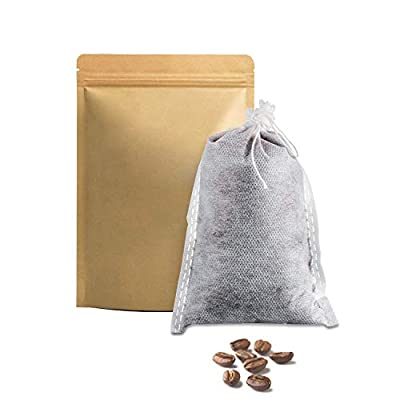"""No Mess Cold Brew Coffee Filters, 120 Count Single Use Filter Packs, Disposable Brewing Bags for Concentrate/Iced Coffee Maker, Cold Press Kit, Hot Tea in Mason Jar/Pitcher (Commercial Size 8""""x12"""")"""