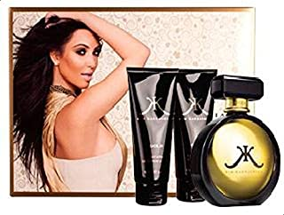 Kim Kardashian Gold Gift Set of 3 for Women (EDP 100ml, Lotion 100ml, Body Wash 100ml)