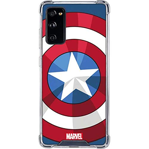 Skinit Clear Phone Case Compatible with Galaxy S20 FE - Officially Licensed Marvel Captain America Emblem Design