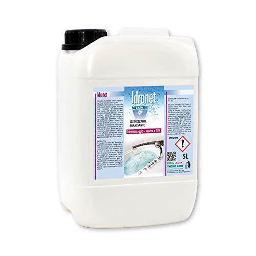 Desinfectante y sanitizante para bañera de hidromasaje Teuco, Albatros, etc. Idronet 5l + vaso dosificador