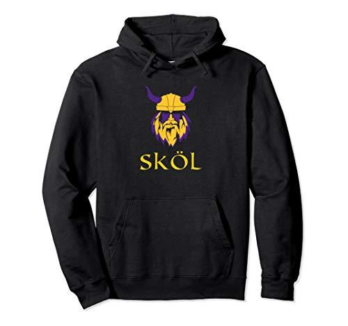 Viking Skol Hoodie Top Helmet Scandinavian Warrior Cool Pullover Hoodie